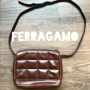 Vintage Salvatore Ferragamo Leather Shoulder Bag